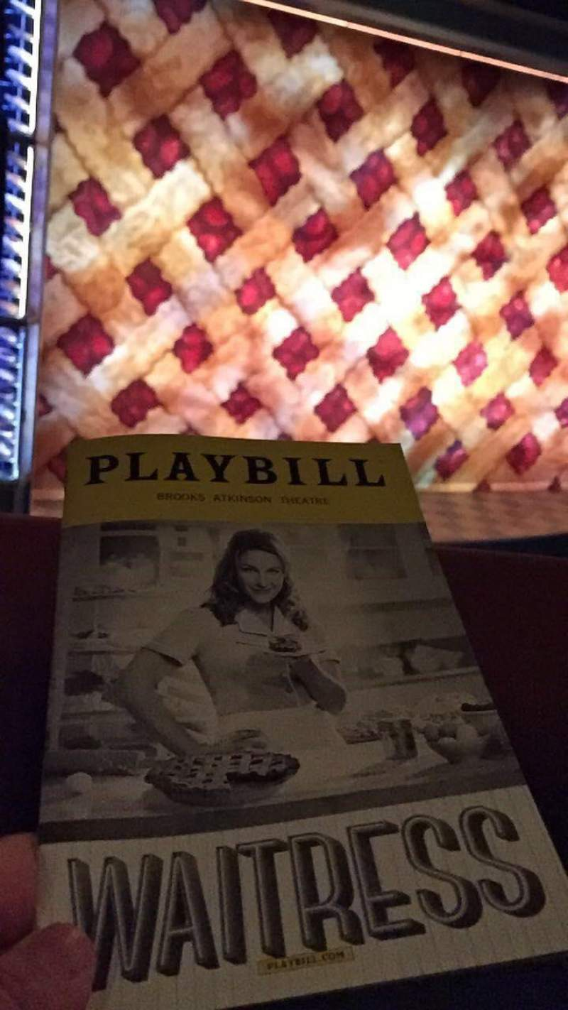Seating view for Brooks Atkinson Theatre Section Front Mezzanine L Row A Seat 13