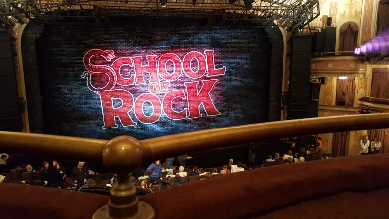 Seating view for Winter Garden Theatre Section Mezzanine Row A Seat 106 and 10