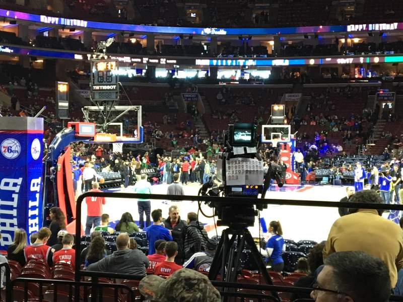 Seating view for Wells Fargo Center Section 108 Row 5 Seat 10