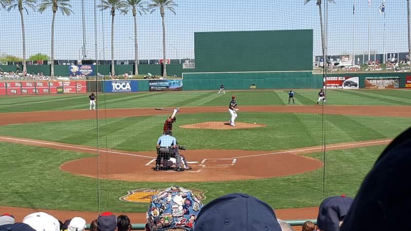 Seating view for Goodyear Ballpark Section 112 Row Q Seat 2
