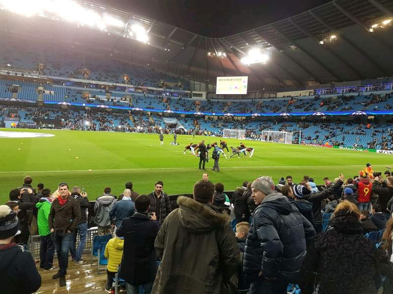 Seating view for Etihad Stadium (Manchester) Section 105 Row H Seat 97