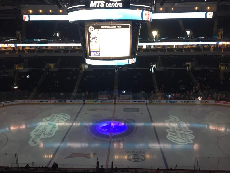 Seating view for Bell MTS Place Section 320 Row 2 Seat 17