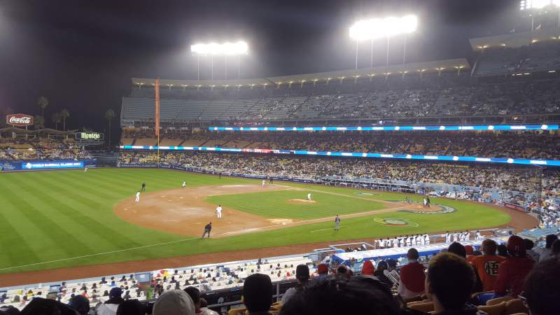 Seating view for Dodger Stadium Section 147LG Row E Seat 7