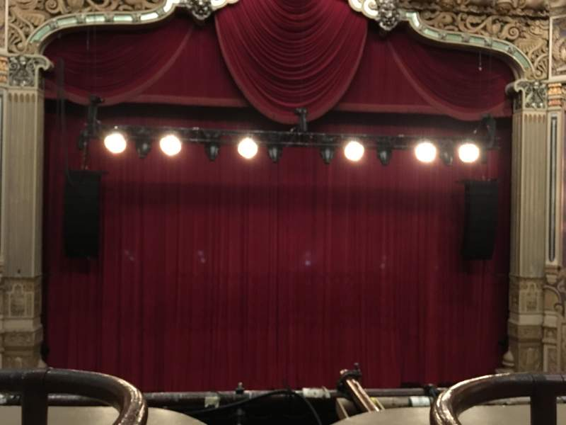Seating view for James M. Nederlander Theatre Section LOGE C Row A Seat 301