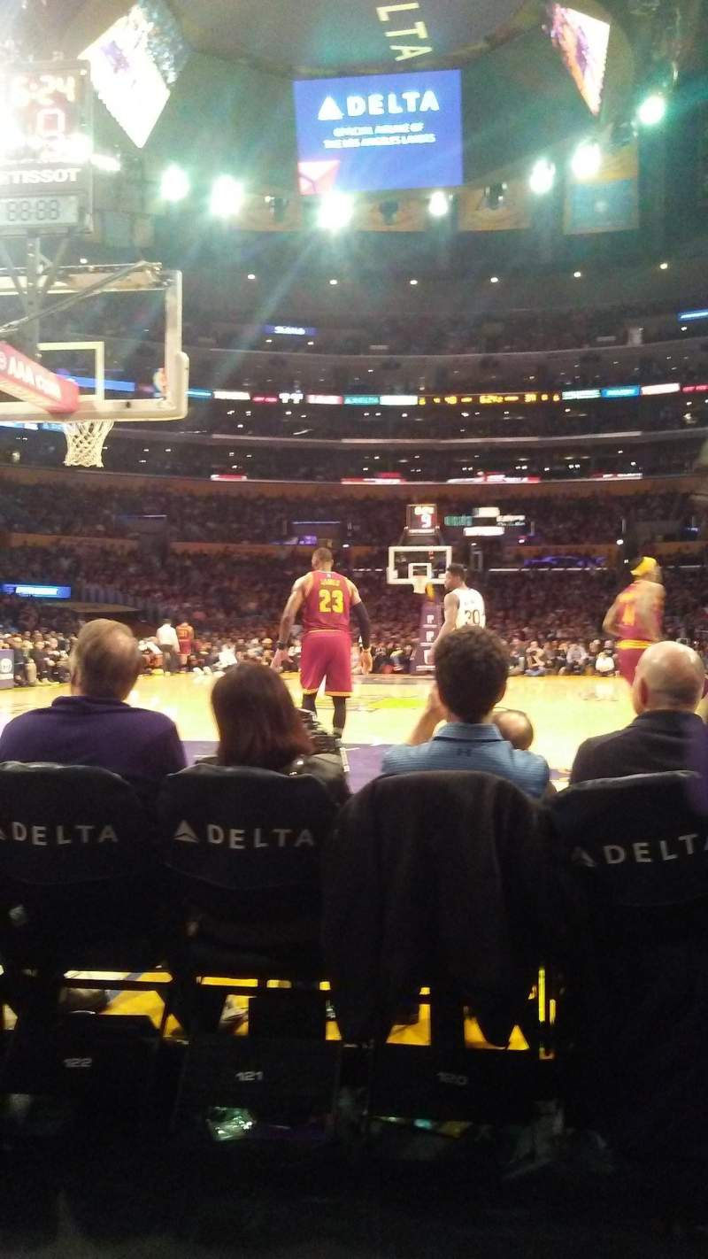 Seating view for Staples Center Section 115 Row B Seat 5