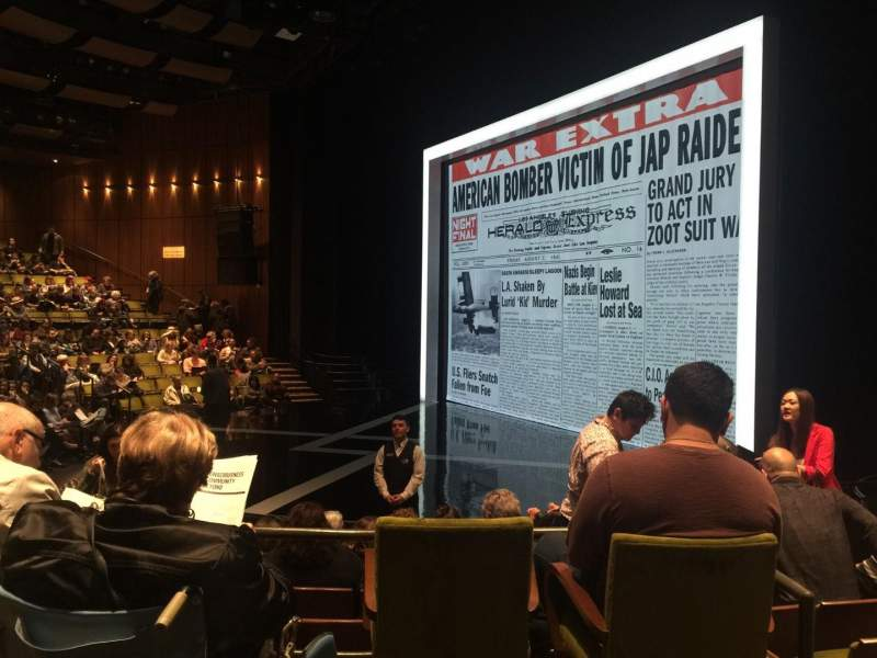 Seating view for Mark Taper Forum Section B Row F Seat 34