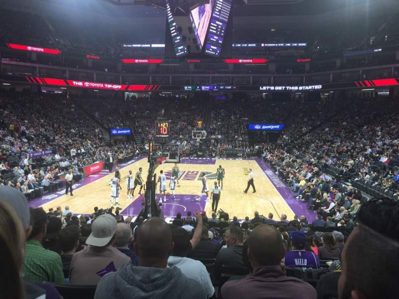Seating view for Golden 1 Center Section 126 Row F Seat 19