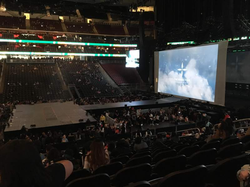 Seating view for Prudential Center Section 8 Row 18 Seat 13