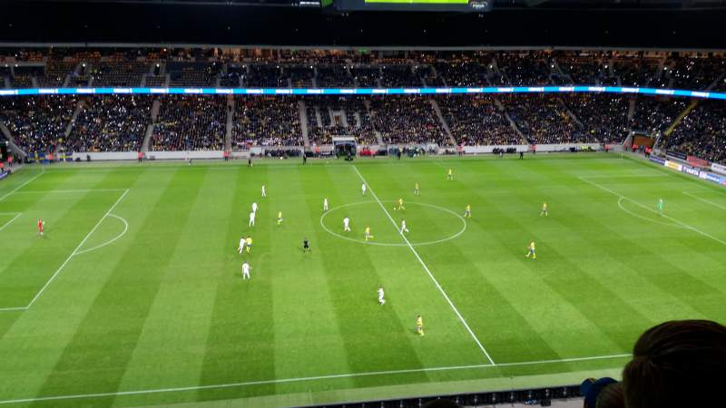 Seating view for Friends Arena Section 309 Row 4 Seat 148