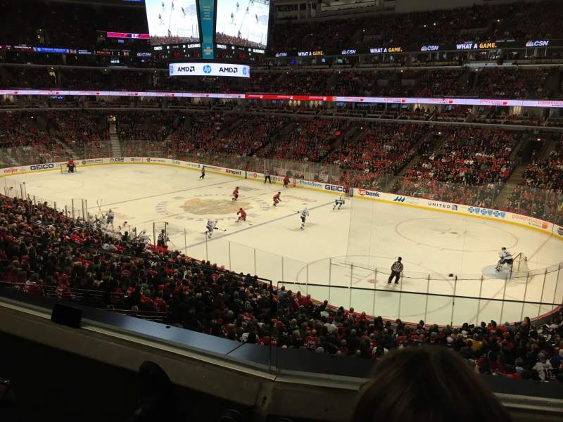 Seating view for United Center Section 231 Row 2 Seat 7
