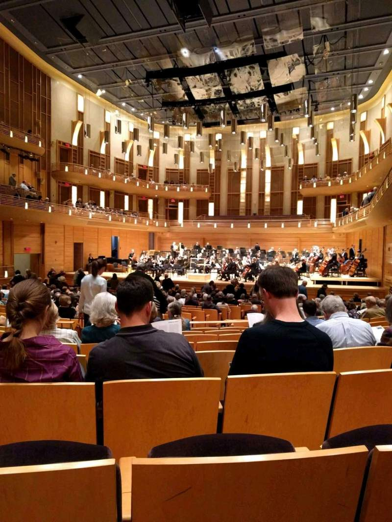 Seating view for The Music Center at Strathmore Section Orchestra Tier Row HH Seat 10