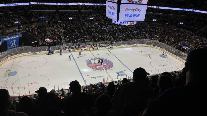 Seating view for Barclays Center Section 226 Row 7 Seat 17