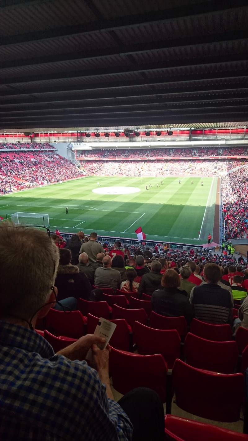 Seating view for Anfield Section Kop grandstand  block 207 Row 61 Seat 32