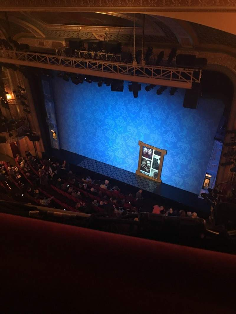 Seating view for Walter Kerr Theatre Section Balc Right Row A Seat 34