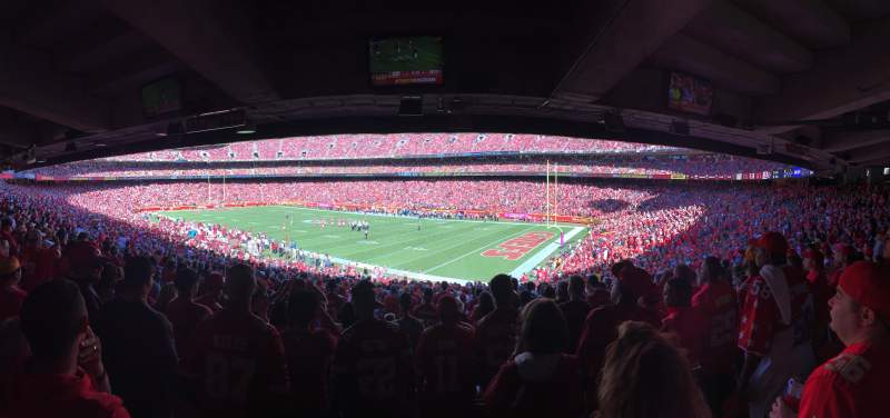 Seating view for Arrowhead Stadium Section 114 Row 38 Seat 23
