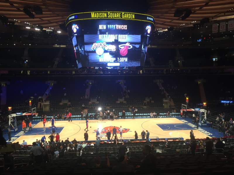 Seating view for Madison Square Garden Section 107 Row 22 Seat 9