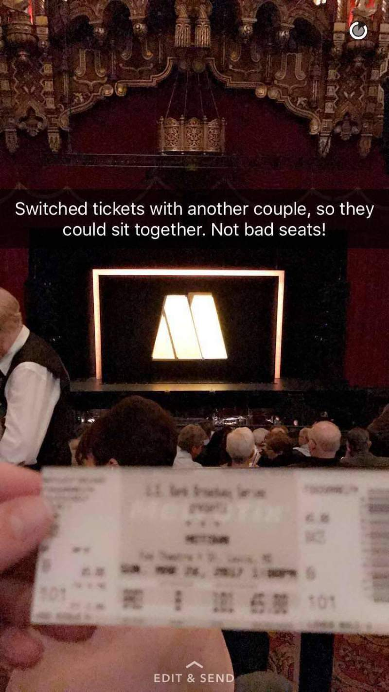 The Fabulous Fox Theatre (St. Louis), section: Balcony 3, row: B, seat: 101
