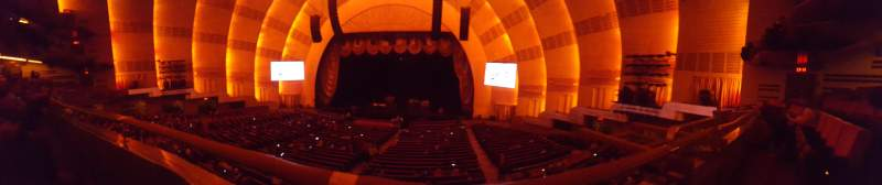 Seating view for Radio City Music Hall Section 1st Mezzanine 3 Row A Seat 303