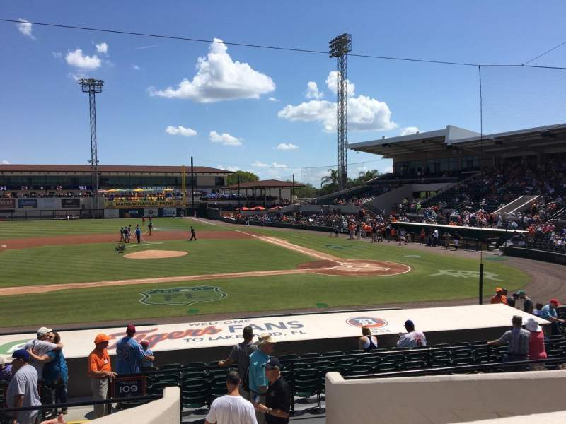Seating view for Joker Marchant Stadium Section 210 Row G Seat 13