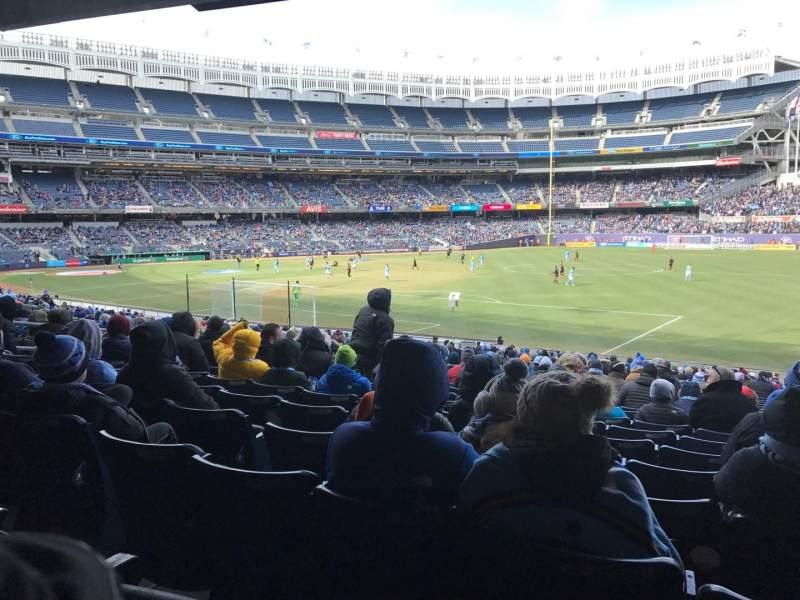 Seating view for Yankee Stadium Section 110 Row 27 Seat 1