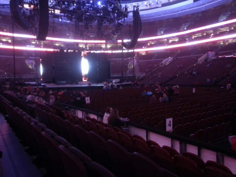 Seating view for Wells Fargo Center Section 102 Row 5 Seat 13