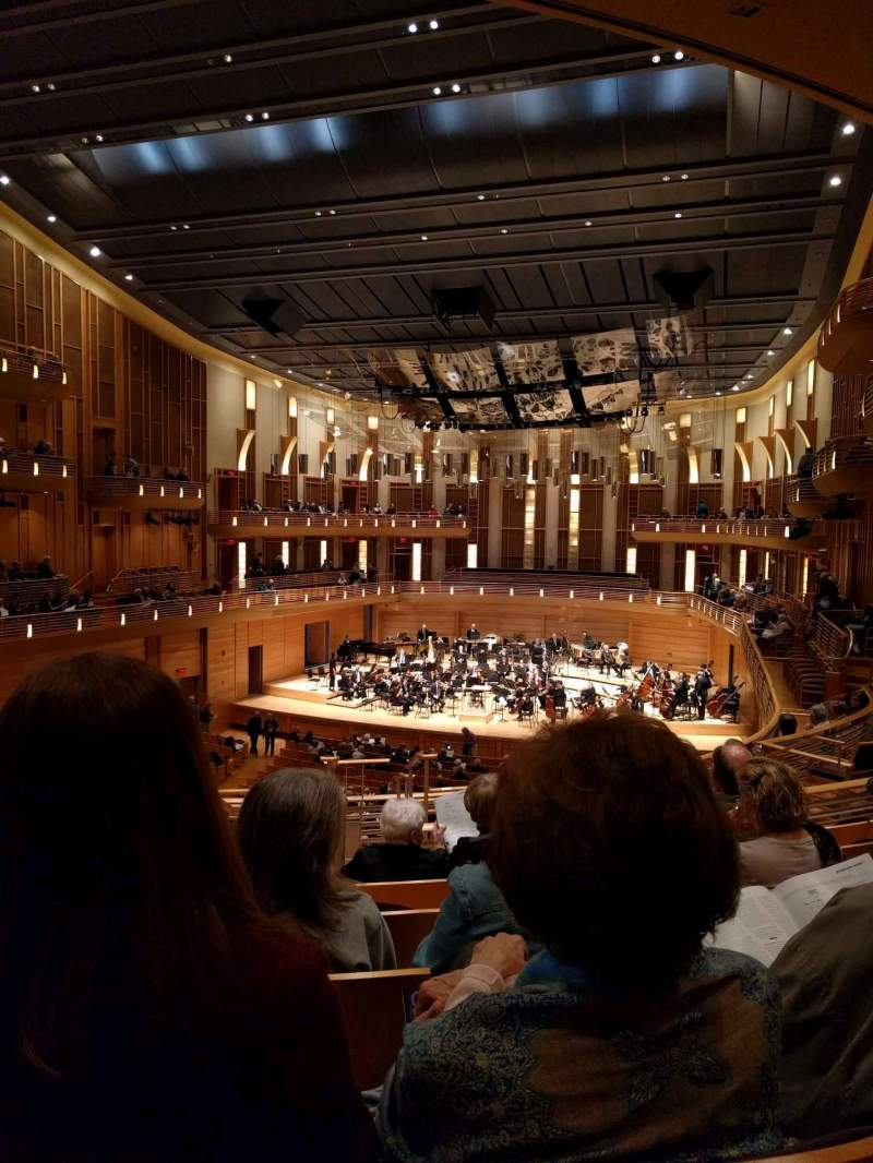 Seating view for The Music Center at Strathmore Section Promenade Right Row F Seat 4
