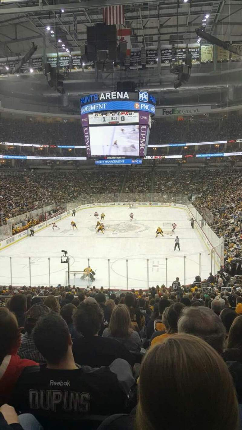 Seating view for PPG Paints Arena Section 117 Row BB Seat 23