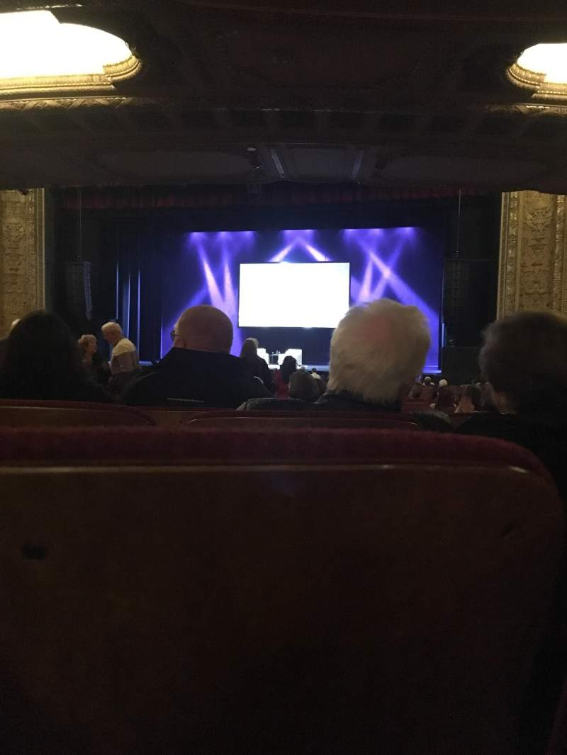 Seating view for Chicago Theatre Section Main Floor - door 3 Row R Seat 304