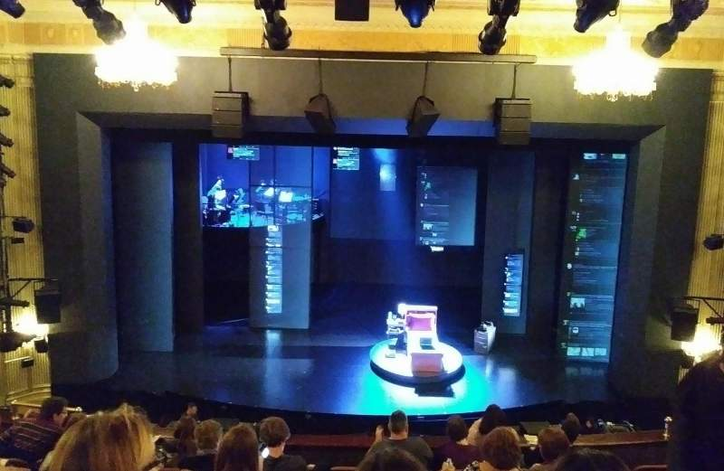 Seating view for Music Box Theatre Section Mezzanine C Row J Seat 108