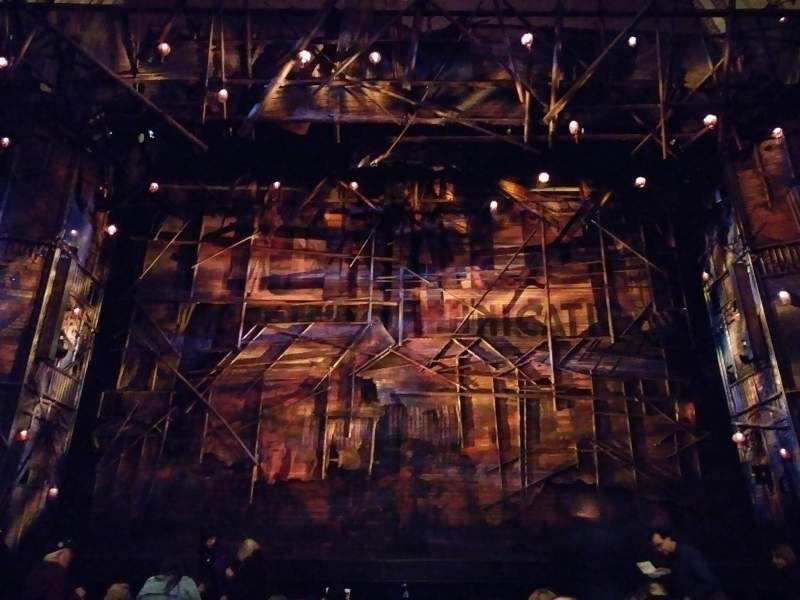 Seating view for Broadway Theatre - 53rd Street Section Orchestra C Row K Seat 108