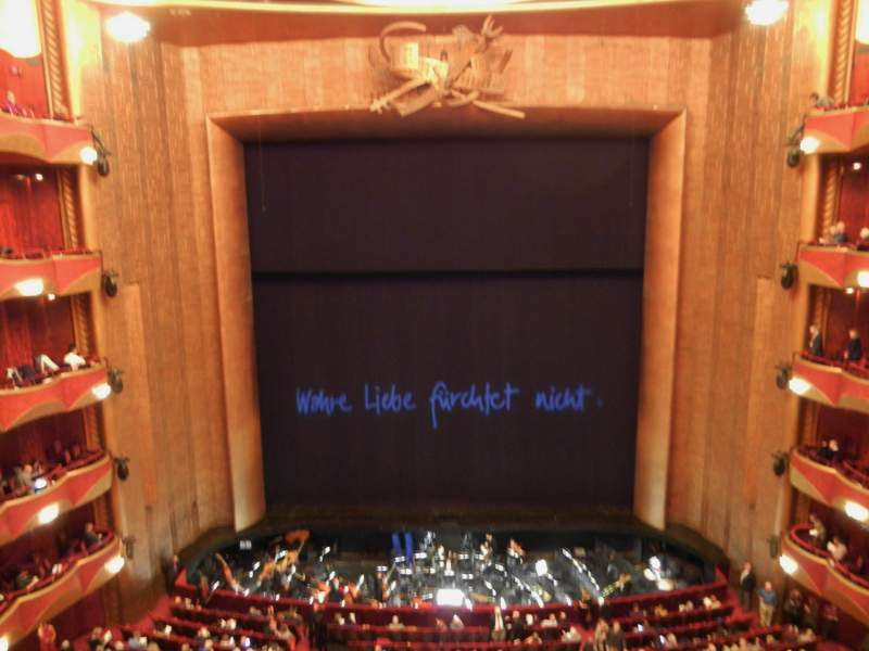 Seating view for Metropolitan Opera House - Lincoln Center Section Balcony Row A Seat 104