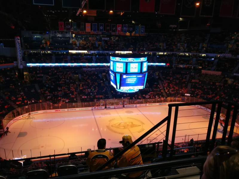 Seating view for Bridgestone Arena Section 324 Row H Seat 3
