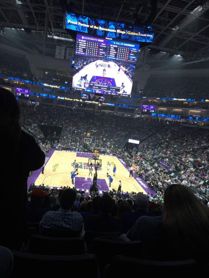 Seating view for Golden 1 Center Section 114 Row W Seat 6