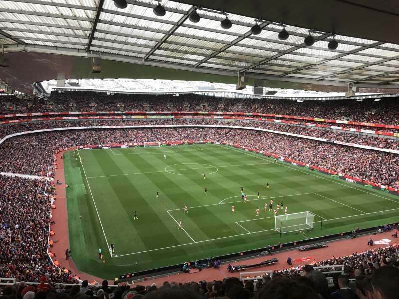Seating view for Emirates Stadium