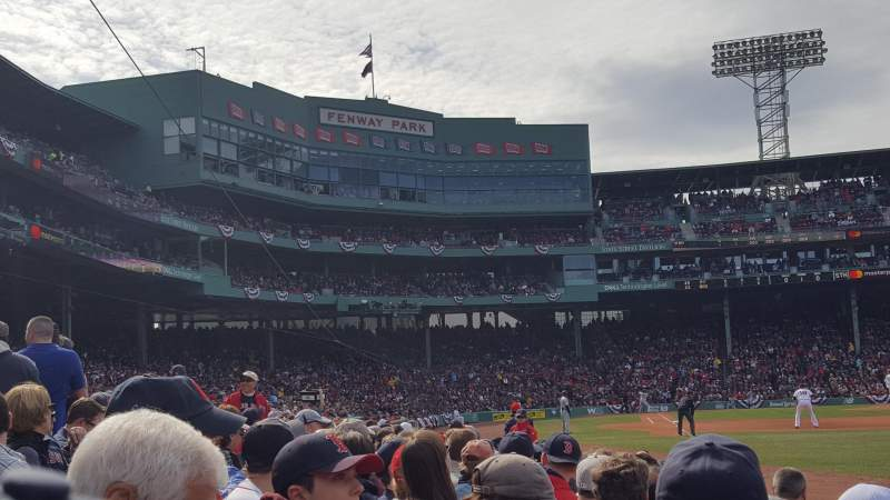 Seating view for Fenway Park Section Right Field Box 6 Row D Seat 15