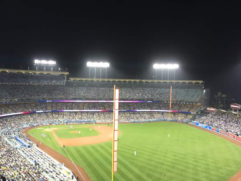 Seating view for Dodger Stadium Section 54rs Row Ff Seat 13