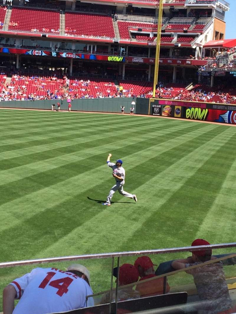 Seating view for Great American Ball Park Section 142 Row C Seat 16