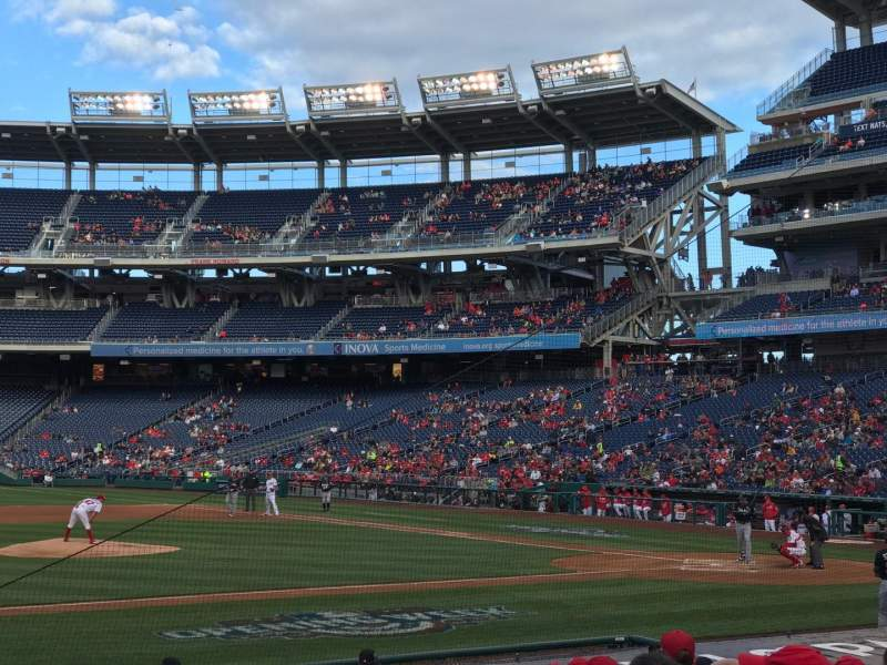 Seating view for Nationals Park Section 116 Row R Seat 17