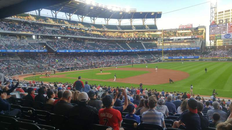 Seating view for Truist Park Section 114 Row 14 Seat 9