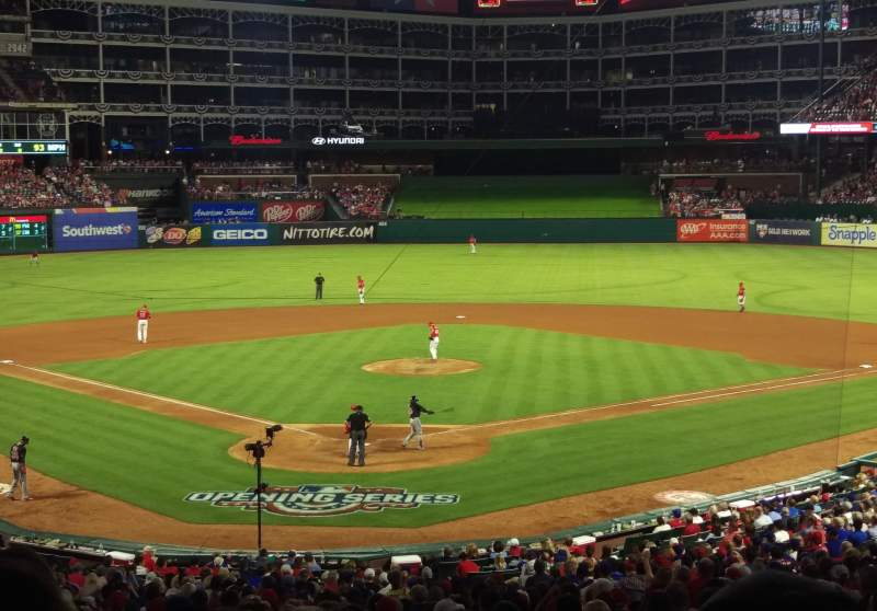 Seating view for Globe Life Park in Arlington Section 127 Row 36 Seat 2