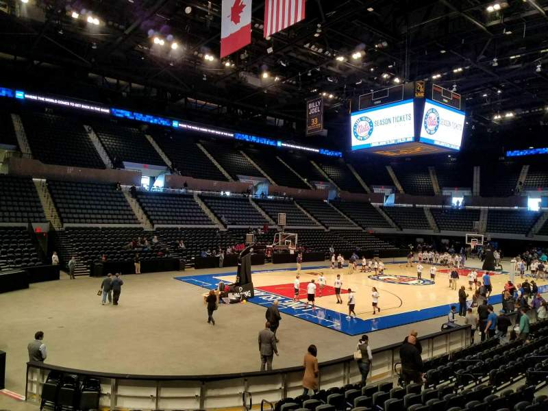 Seating view for Nassau Veterans Memorial Coliseum Section 107 Row 3 Seat 3