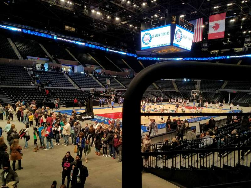 Seating view for Nassau Veterans Memorial Coliseum Section 21 Row 1 Seat 1