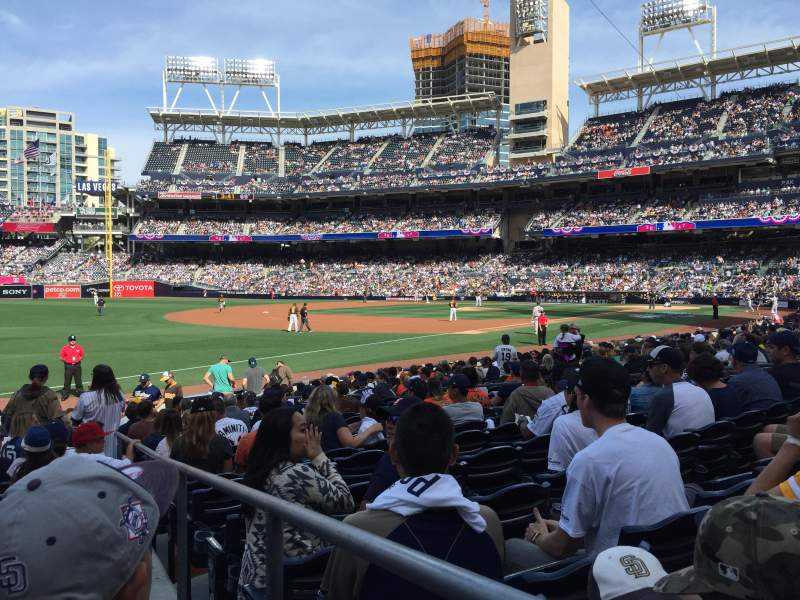 Seating view for PETCO Park Section 120 Row 18 Seat 1