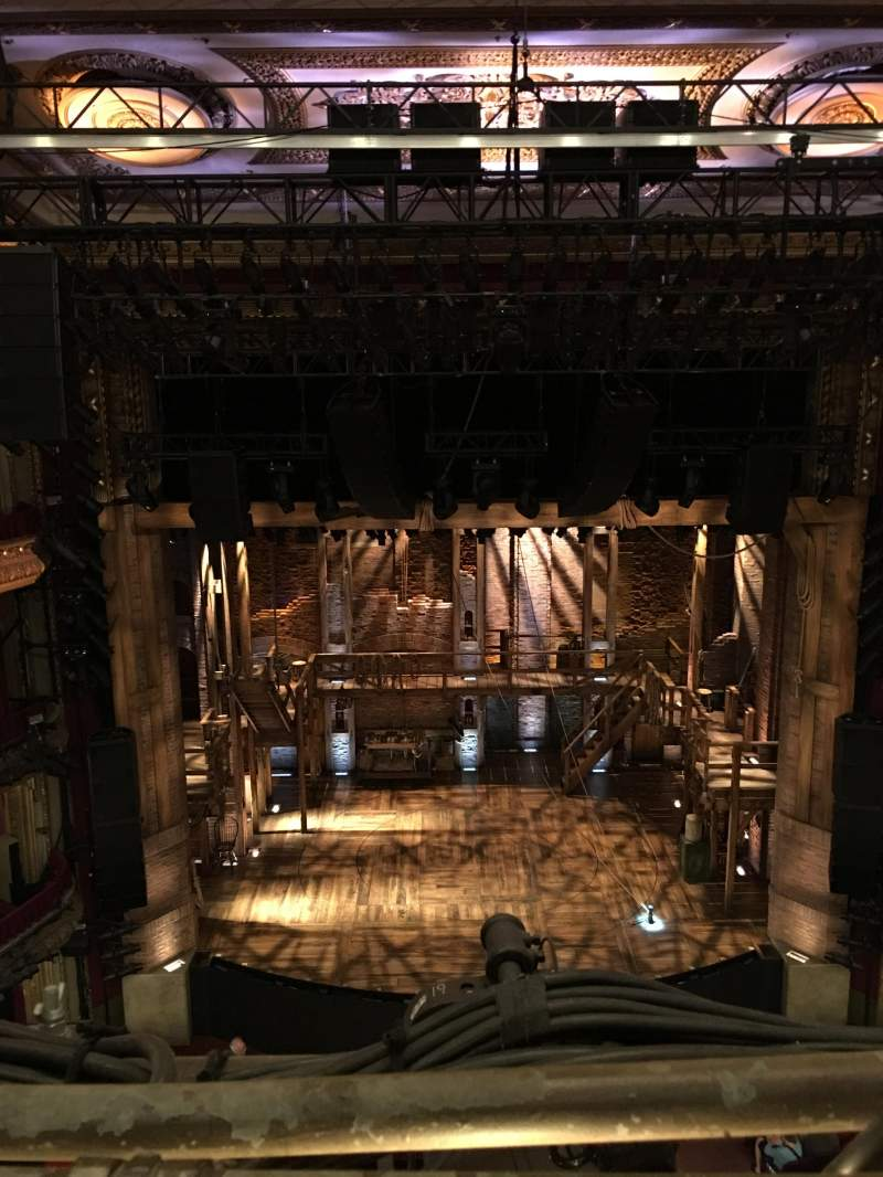 Seating view for PrivateBank Theatre Section Balcony LC Row A Seat 401
