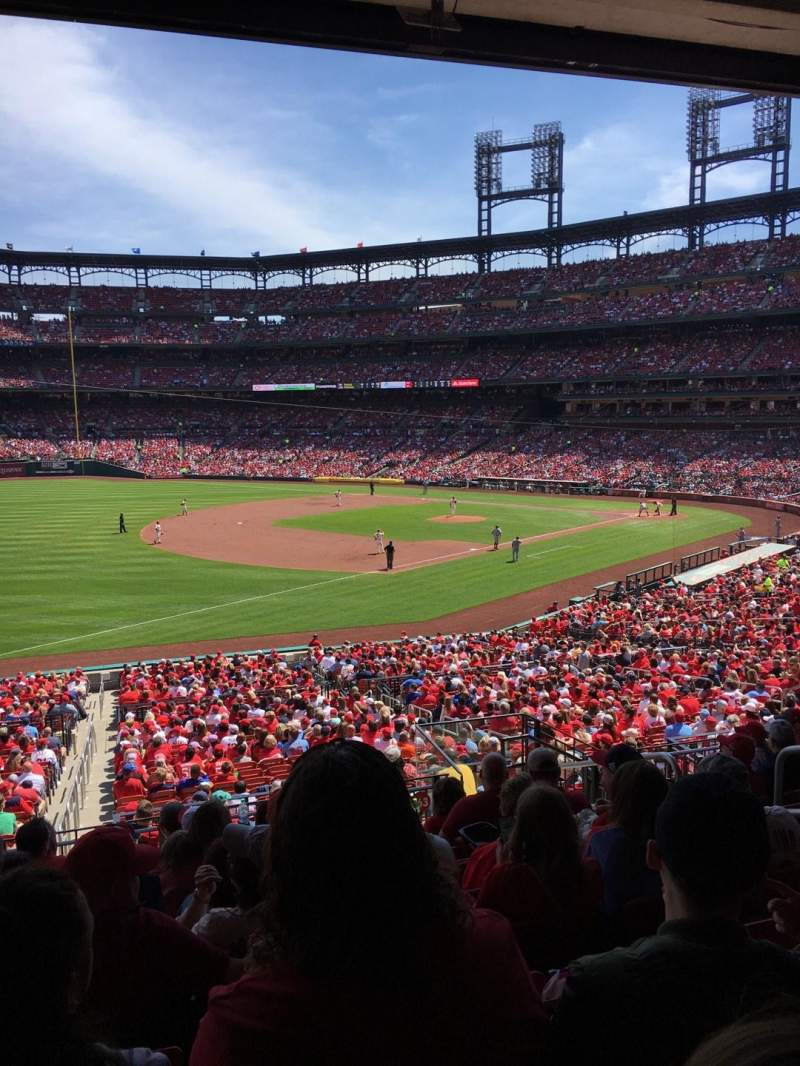 Seating view for Busch Stadium Section 163 Row 28 Seat 5
