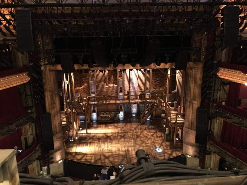 Seating view for CIBC Theatre Section Balcony LC Row A Seat 401