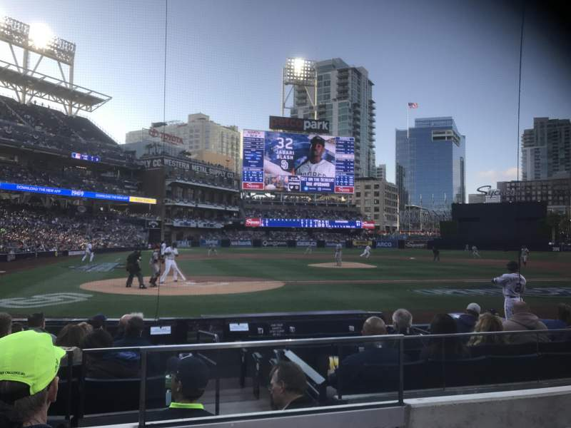 Seating view for PETCO Park Section FV103 Row 10 Seat 11