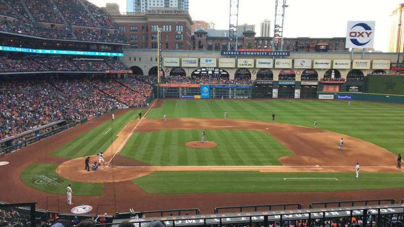 Seating view for Minute Maid Park Section 224 Row 5 Seat 3