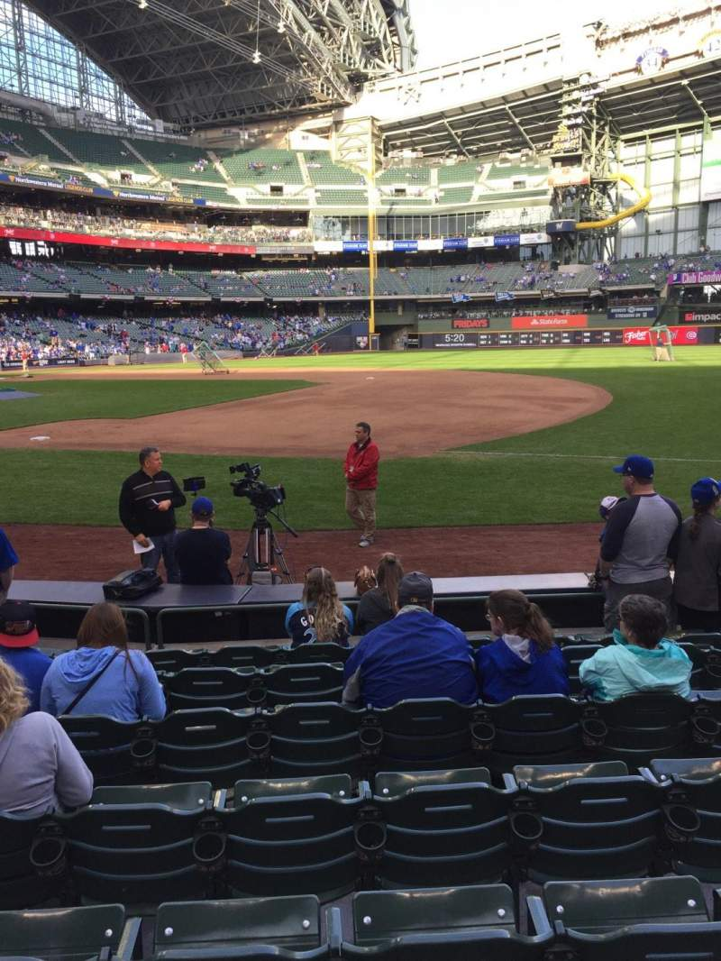 Seating view for American Family Field Section 111 Row 8 Seat 12