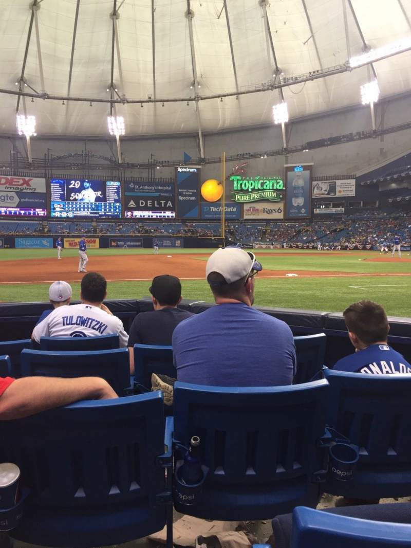 Seating view for Tropicana Field Section 119 Row F Seat 4